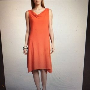 Eileen Fisher Peony Cowl Neck Jersey Dress P M new